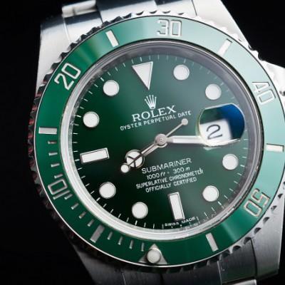 劳力士潜航者116610LV绿水鬼,二手劳力士手表回收