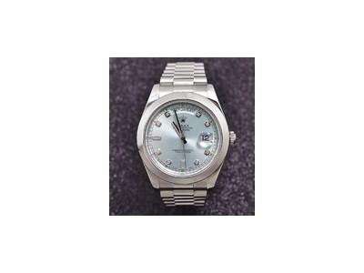劳力士星期日历型系列218206-83216 A冰蓝盘罗马时标腕表