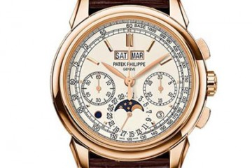 百达翡丽手表回收,百达翡丽超级复杂功能计时系列5270R-001腕表