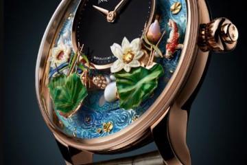雅克德罗推出全新锦鲤幻莲自动玩偶腕表,雅克德罗手表回收